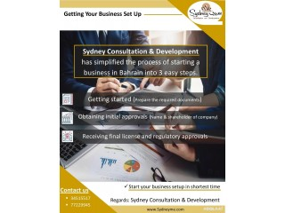 3 simple step to start business in Bahrain