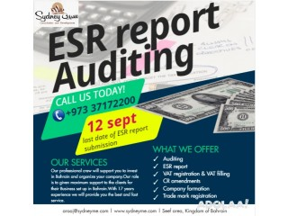 12 September last date of submission of ESR report