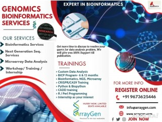 Arraygen offers various Bioinformatics Services and Training