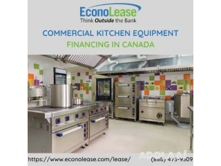 Commercial Kitchen Equipment Financing in Canada
