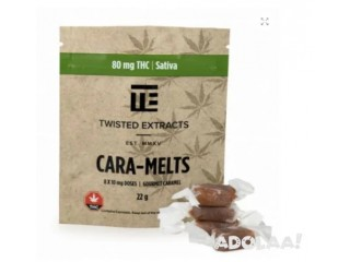 TWISTED EXTRACTS – CARA-MELTS 80MG THC SATIVA $12.99