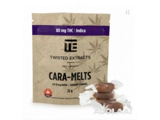 TWISTED EXTRACTS – CARA-MELTS 80MG THC INDICA $12.99