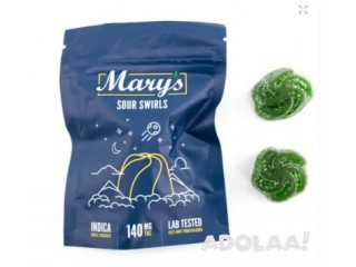 Mary's Medibles – Sour Swirls – Indica – 140mg $11.99
