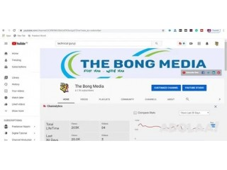 I will create, setup, design, optimize , verified and mange youtube channel and other social media Sites.