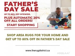 Get up to 80% Off For Area Rugs in Father's Day Sale