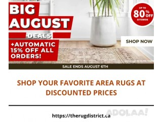 Shop Your Favorite Area Rugs at Discounted Prices