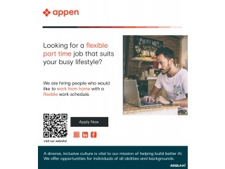 Worldwide work-from-home company, Appen, is looking for several short self-video for a well-paid 2-minute task.
