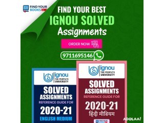Ignou Solved Assignment Materials for 2020-21