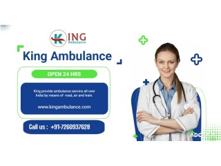 King Ambulance Service in Kolkata is Available with Advance Equipments