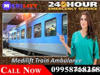 Get 24 Hrs Helpful Medilift Train Ambulance in Ranchi with Expert Medical Team