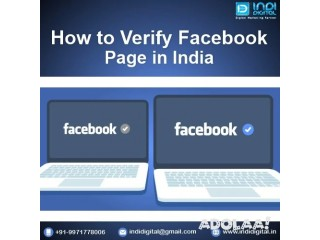 We help you to verify facebook page in india