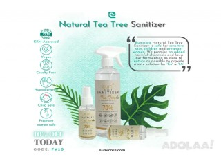 Eumi 3-in-1 Sanitizer Keeps Your Health Skin Stay Close to Nature without the sticky feel!