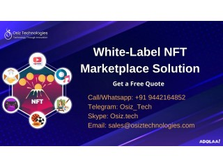 Launch your NFT Marketplace with our White Label NFT Marketplace Solution