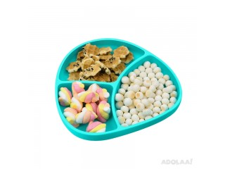 BPA Free Food Grade Baby Plate and Spoon Easy To Clean Dinning Plate Silicon Plate Set Wholesaler Manufacturer