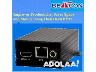 Save on space, cabling, and cost with easy installation using Dual head KVM