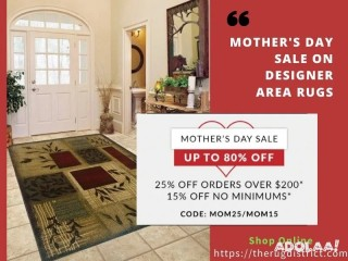 Buy Best Quality Rugs for Your Home in Mother's Day Sale