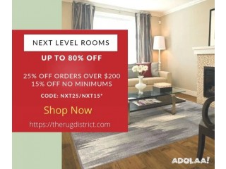 Shop Your Favorite Area Rugs in Next level Rooms Sale