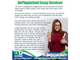 20$ page academic work, no payment upfront only after essay is finished