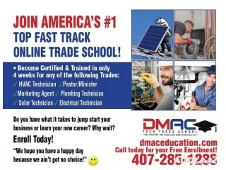 Become A Certified HVAC Electrical Plumbing Solar Tech in 4 Weeks!