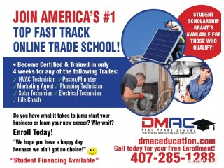 BECOME A CERTIFIED HVAC PLUMBING ELECTRICAL SOLAR TECH IN ONLY 4 WKS!