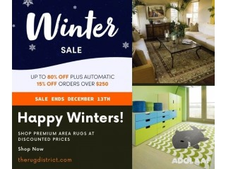 Shop Area Rugs for Your Indoor/Outdoor Space in Winter Sale
