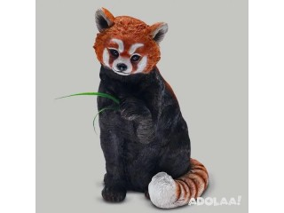 "20"" HAND-CRAFTED POLYRESIN RED PANDA SCULPTURE"