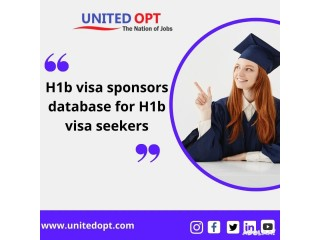 H1b visa sponsors database is the most useful information to get a job.