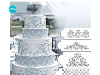 4pcs/Set Princess Lace Cake Stencil Set Cake Craft Stencils