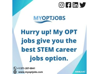 Get International STEM education jobs only with My OPT jobs.