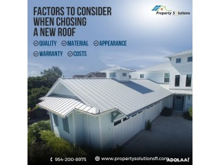 Factors to Consider When Choosing A New Roof