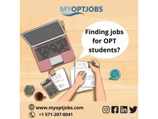 Finding jobs for OPT students?