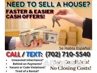 WE BUY PROPERTY CASH & CLOSE WITHIN 2 WEEKS OR ANY DATE YOU DESIRE