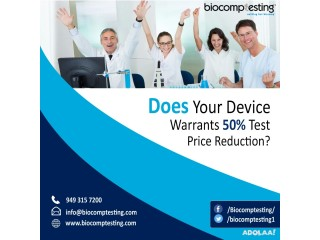 Does your device warrants 50% test price reduction?