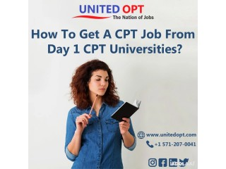 Employers are offering CPT job internships in California.