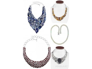 Buy Silver Statement Necklaces For Women By Rananjay Exports