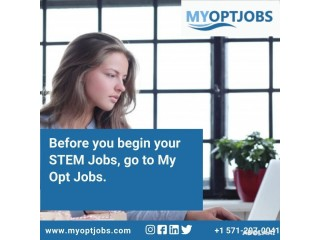 Before you begin your STEM Jobs, go to My Opt Jobs.