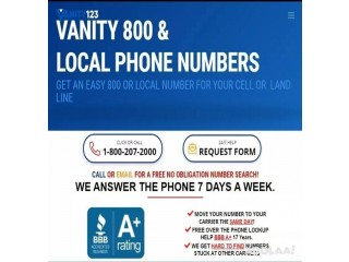 Vanity Numbers - Local or 800 Number for Your Business