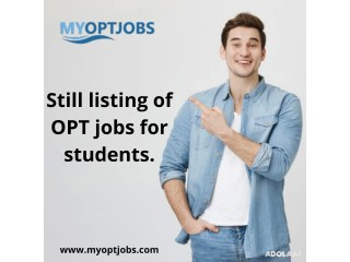 Still listing of OPT jobs for students.