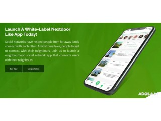 Get to know your neighbours better with the nextdoor clone app.