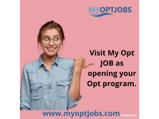Visit My Opt JOB as opening your Opt program.