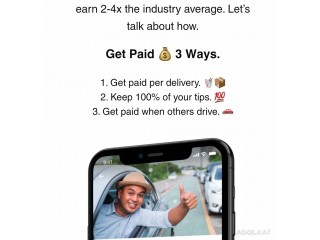Make money when you make deliveries and when others do deliveries.