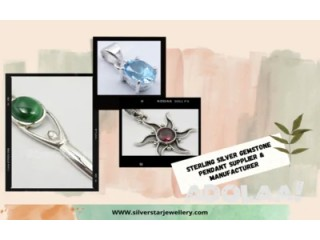 Sterling Silver Gemstone Pendant Supplier & Manufacturer