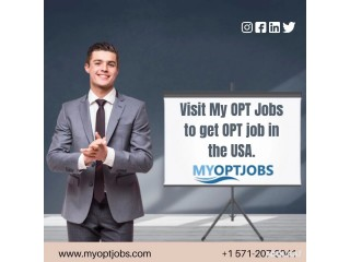 Visit My OPT Jobs to get OPT job in the USA.