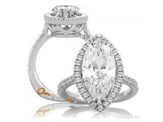Buy White Gold Diamond Engagement Ring Semi Mounting