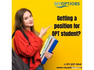 Getting a position for OPT student?