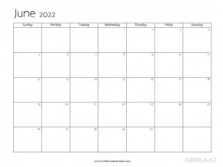 Memorize the foremost Important Dates with June 2022 Printable Calendar