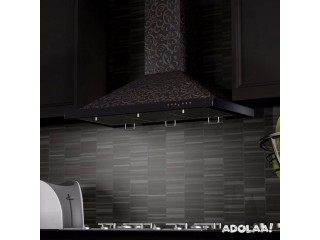 Designer Wall Mount Range Hoods; Available on Kitchen Air Flow