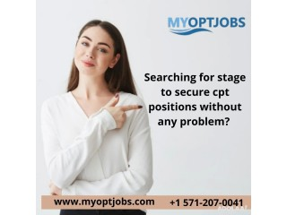 Searching for stage to secure cpt positions without any problem?