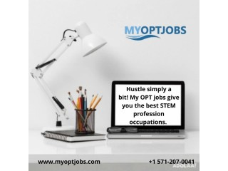 Hustle simply a bit!My OPT jobsgive you the best STEM profession occupations.