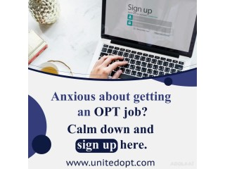 Invest your precious time at United OPT and get an OPT job quickly.